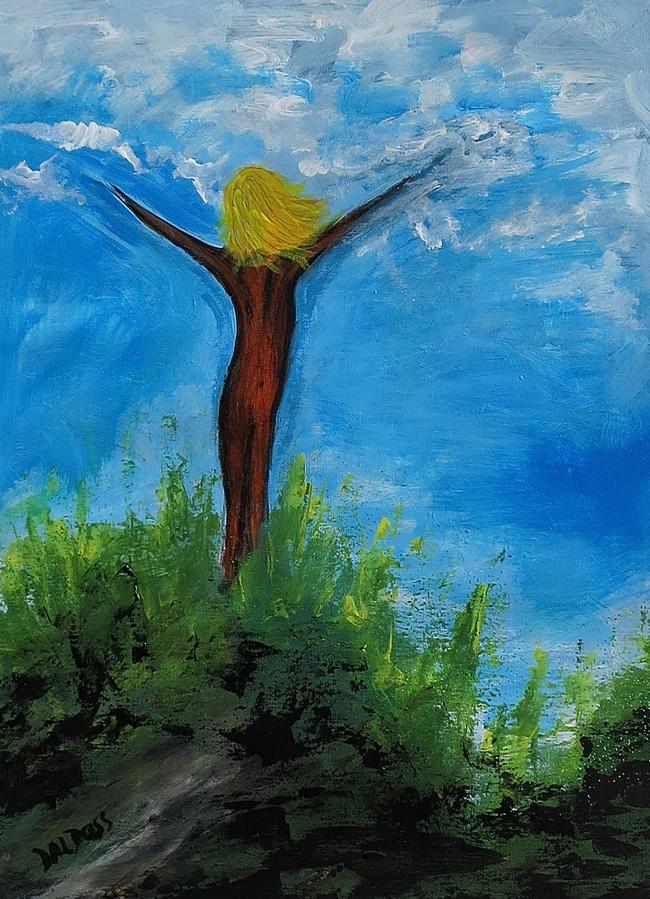 Freiheit, Acryl auf Papier, 40x50cm