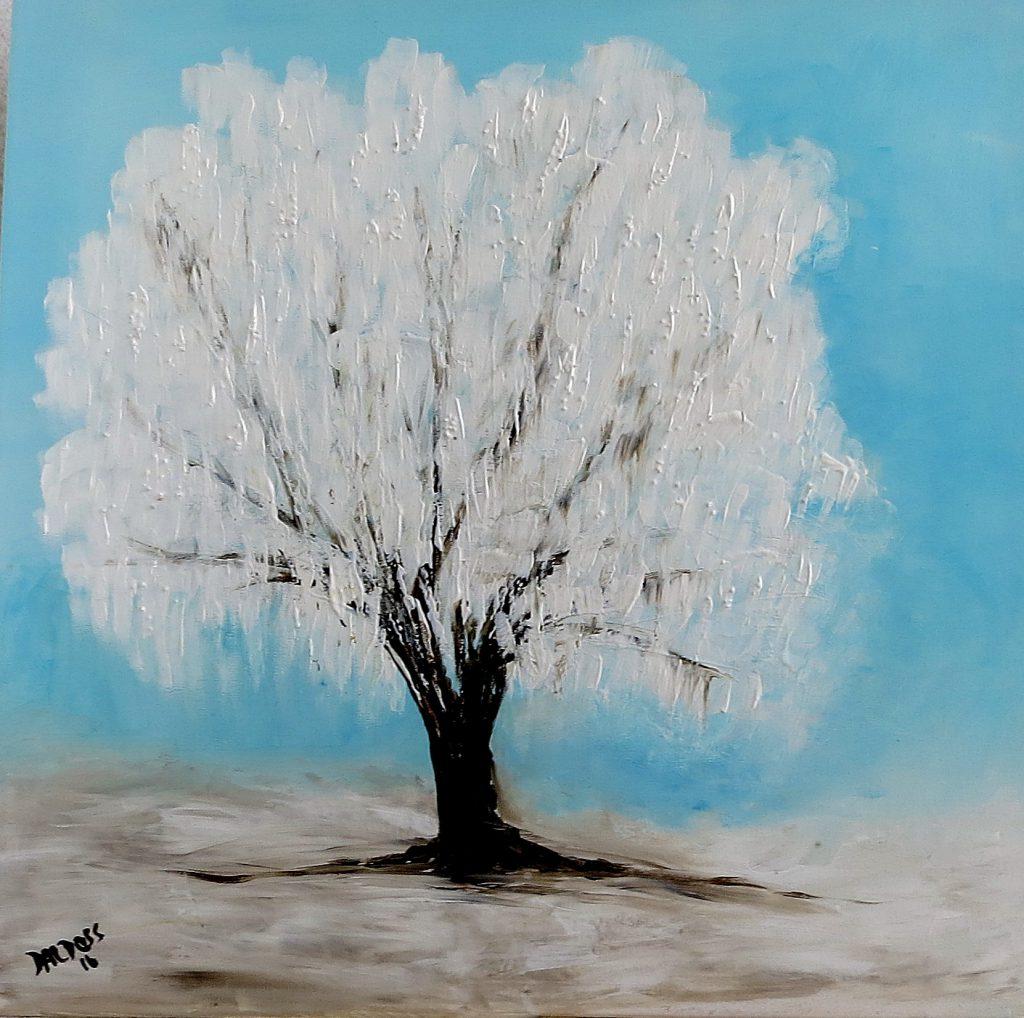 Winterweide, Acryl auf Leinwand, 60x60