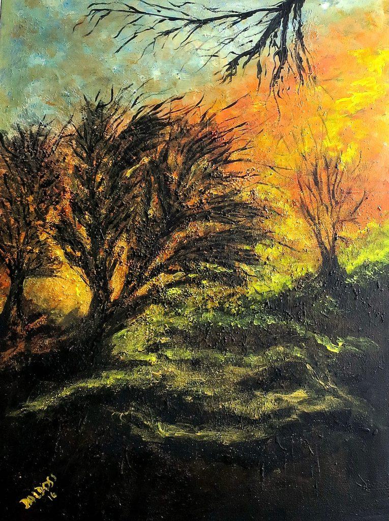 Baum im Herbst, Acryl auf Leinwand, 80x60
