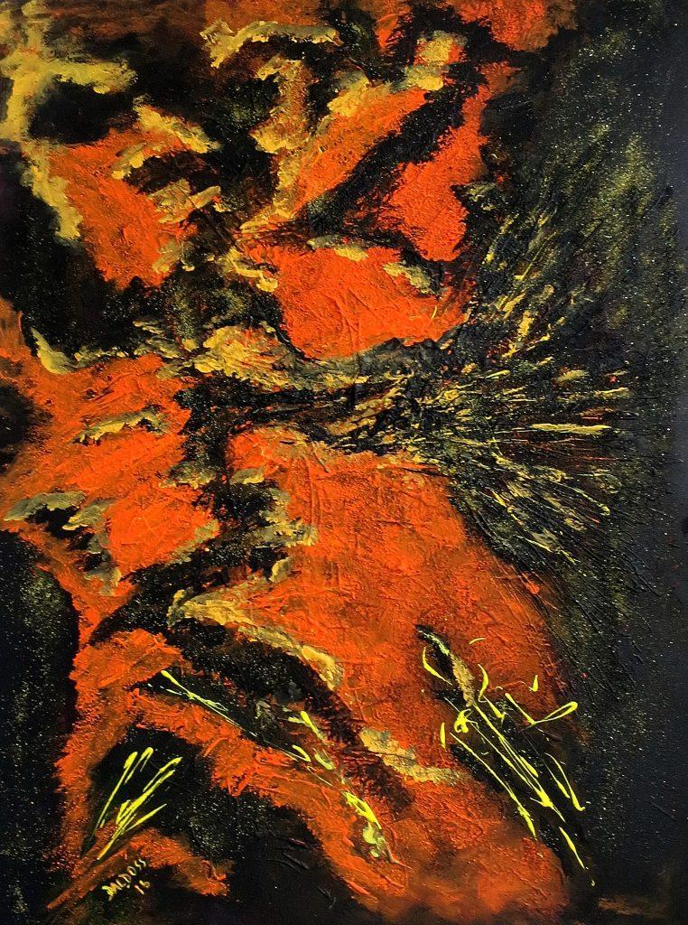 ohne Titel, Acryl auf Leinwand, 80x60