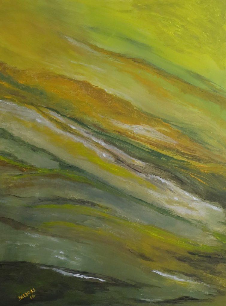 Wüstenei, Acryl auf Leinwand, 80x60
