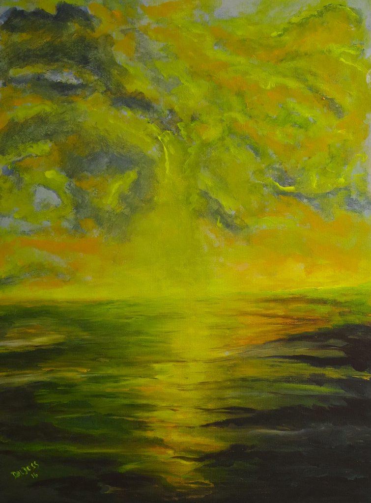 Stimmungsbild gelb, Acryl auf Leinwand, 80x60