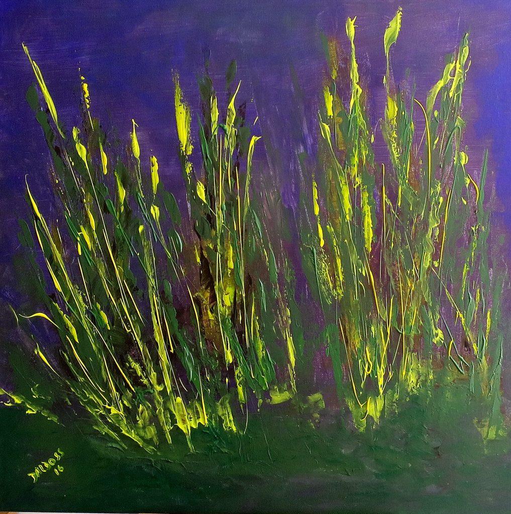 Gräser, Acryl auf Leinwand, 60x60