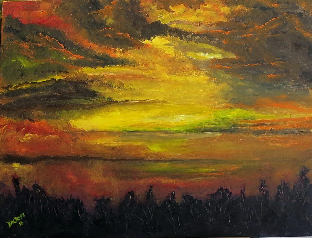 Stimmungsbild, Acryl auf Leinwand, 60x80