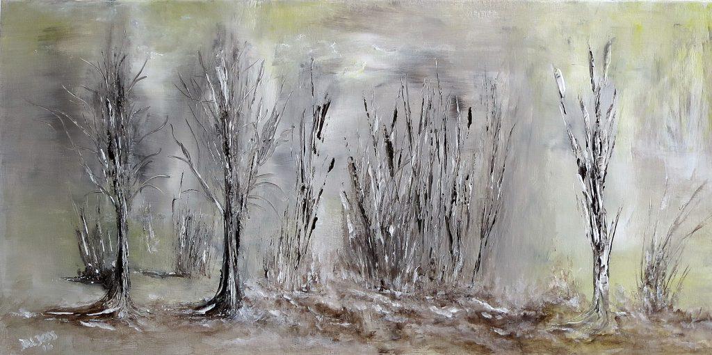 Winterlandschaft, Acryl auf Leinwand, 50x100