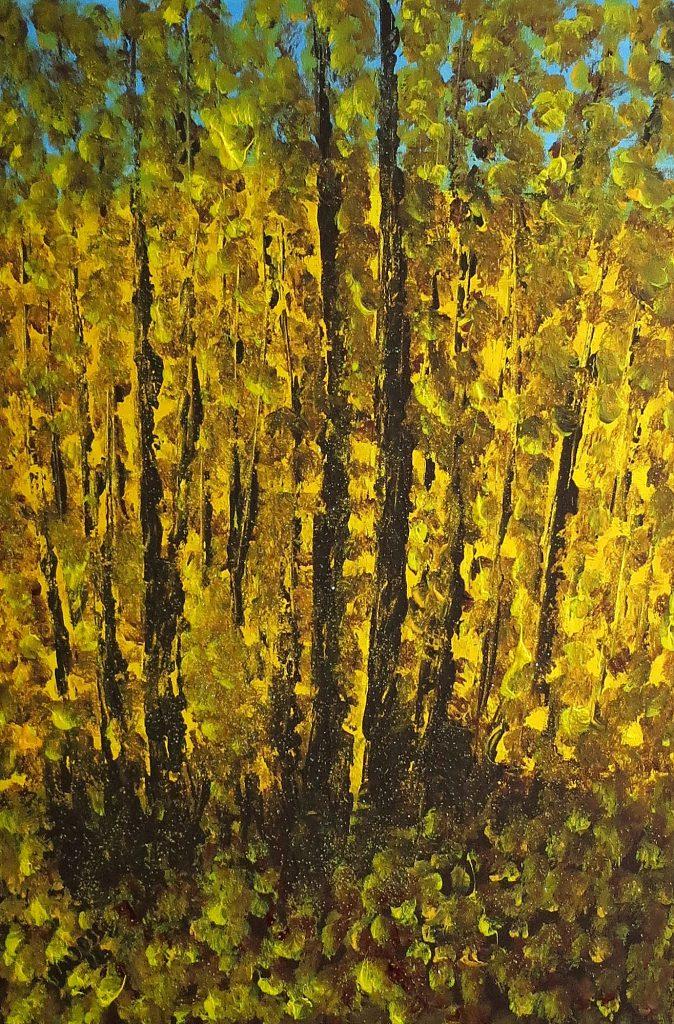Herbstlaub, Acryl auf Leinwand, 60x40