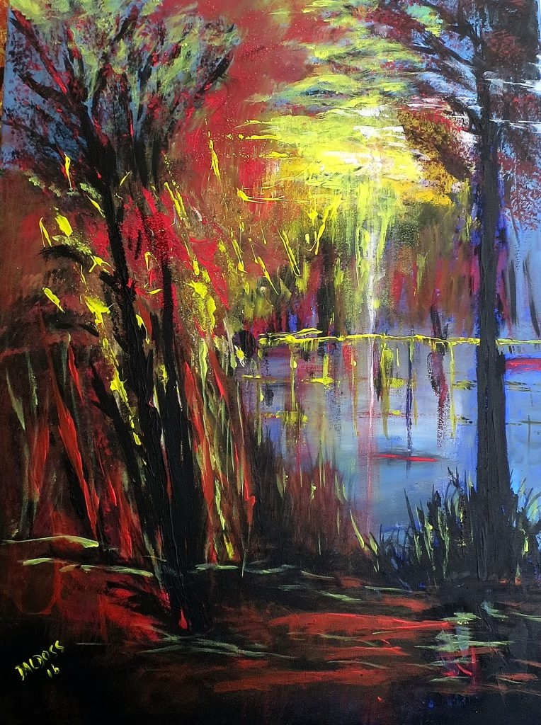 Natur abstrakt, Acryl auf Leinwand, 80x60