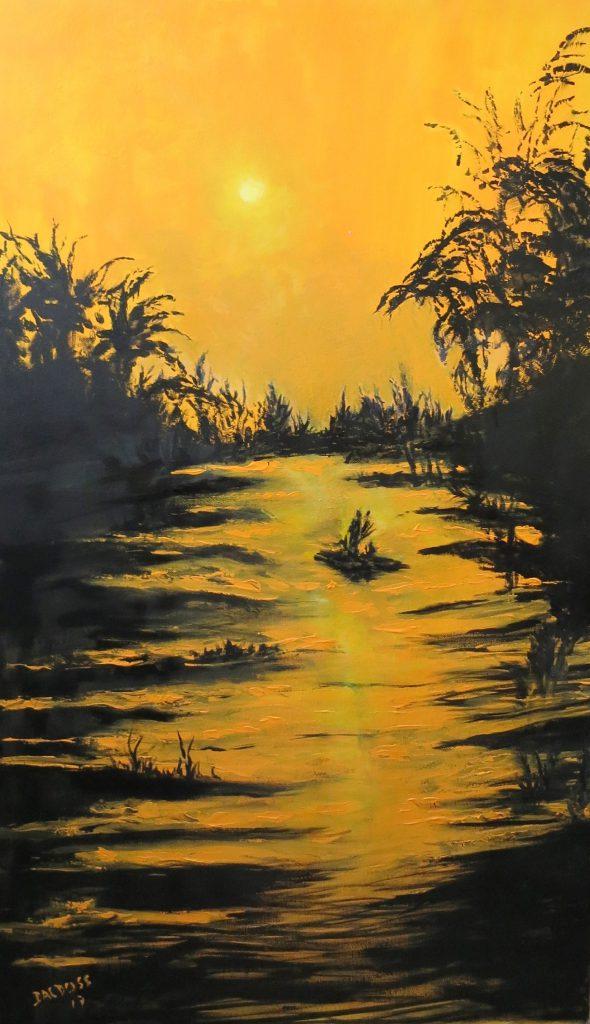 Sonnenuntergang, Acryl auf Leinwand, 100x60