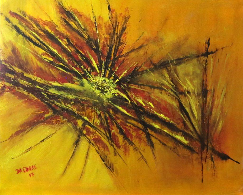 Distel, Öl auf Leinwand, 50x60