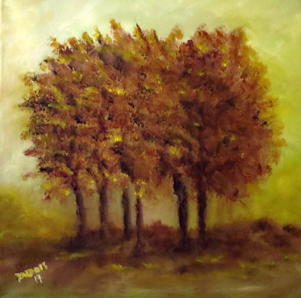 Bäume, Öl auf Leinwand, 40x40