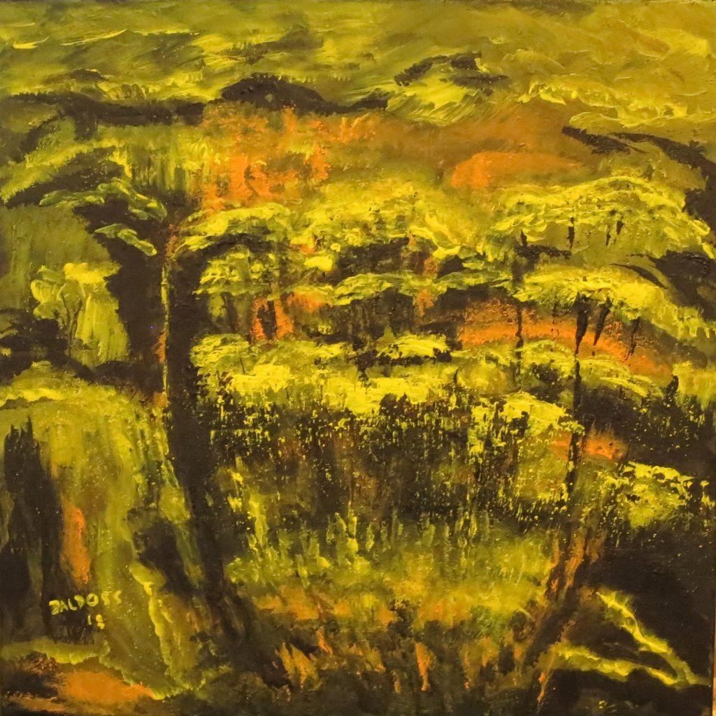 Märchenwald, Acryl auf Leinwand, 50x50