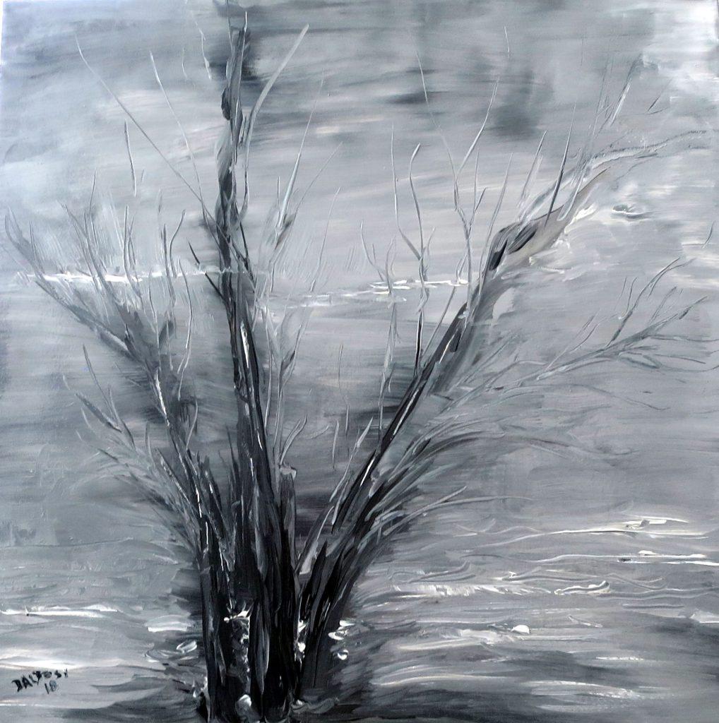 Novembertag, Öl auf Leinwand, 60x60