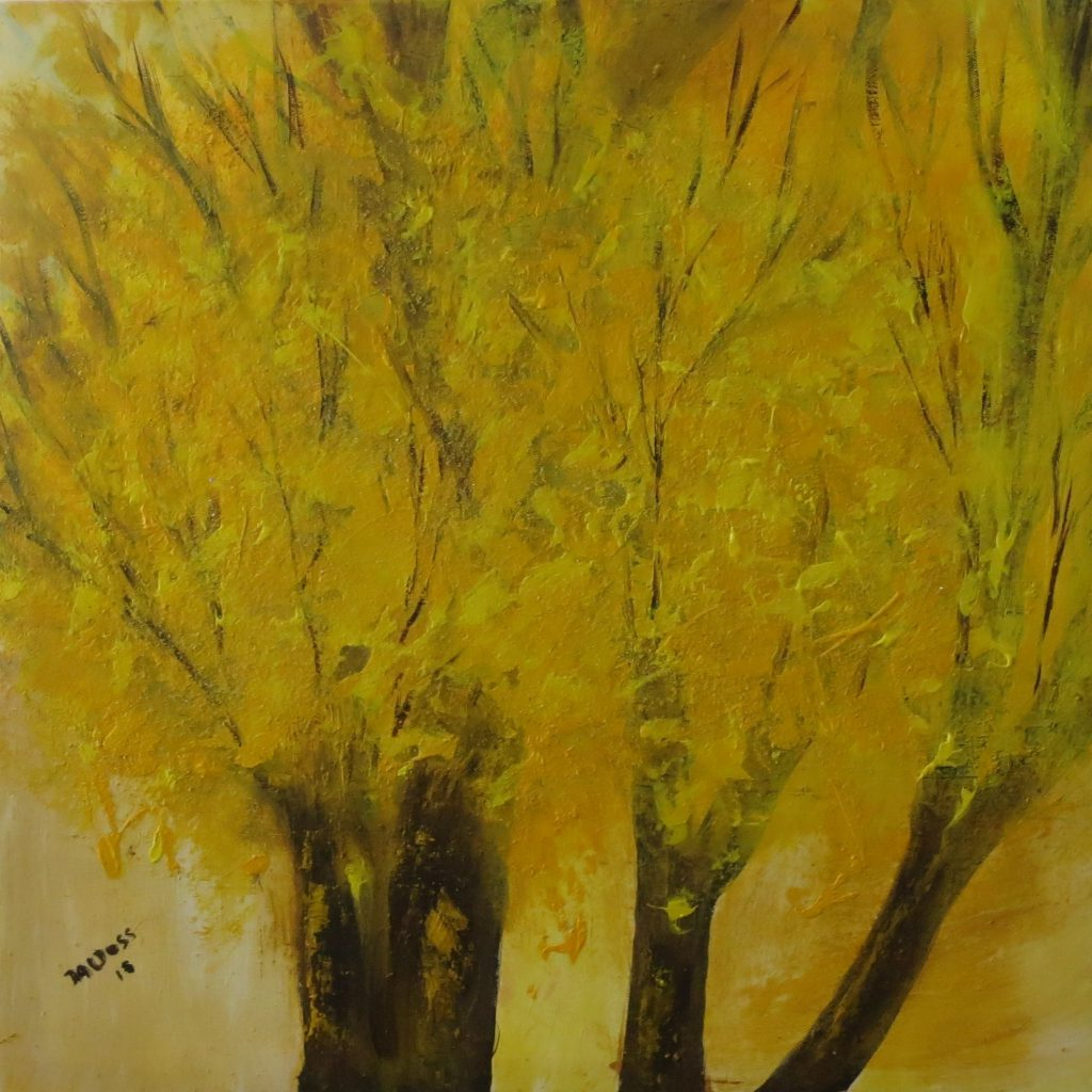 Bäume, Acryl auf Leinwand, 60x60