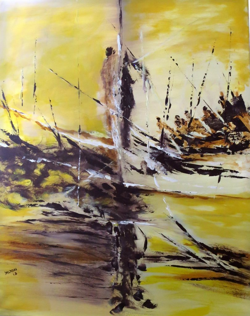 Seenot, Acryl auf Leinwand, 100x80