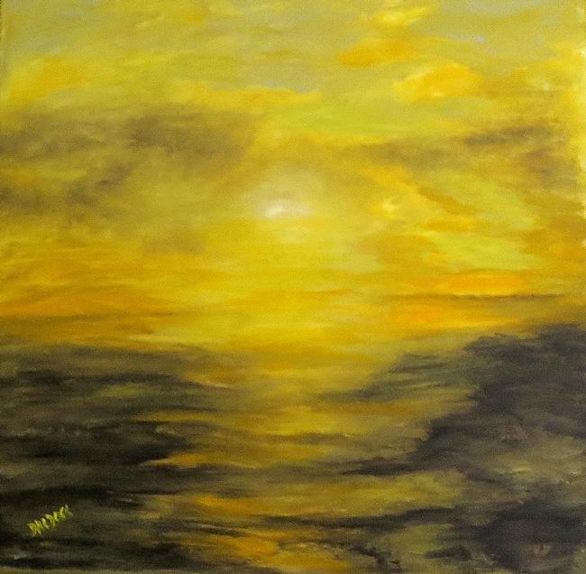 Sonnenaufgang, Öl auf Leinwand, 60x60cm
