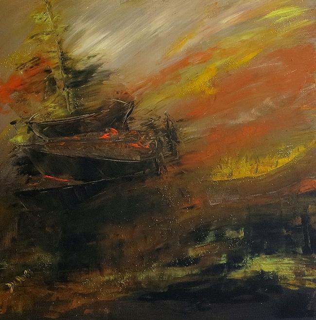 Sturm, Öl auf Leinwand, 60x60cm