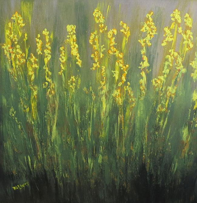 Blühende Gräser, Acryl auf Leinwand