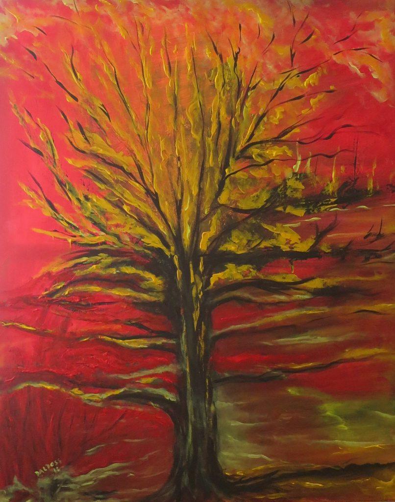 Lebensbaum, Acryl auf Leinwand, 100x80