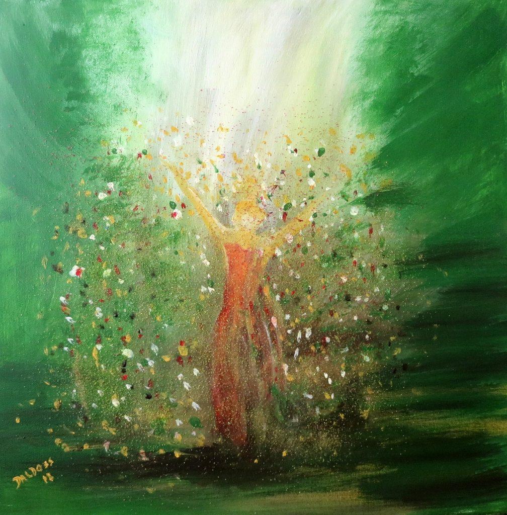 Jubilarin, Acryl auf Leinwand, 60x60