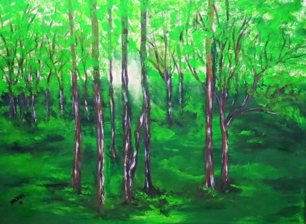 Der Wald, Acryl auf Leinwand, 60x80