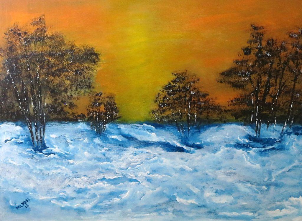 Winterlandschaft, Acryl auf Leinwand, 60x80