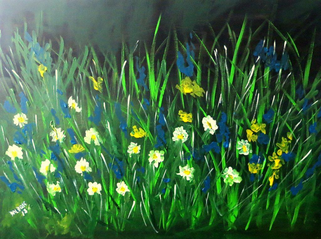 Blumenwiese, Acryl auf Leinwand, 60x80