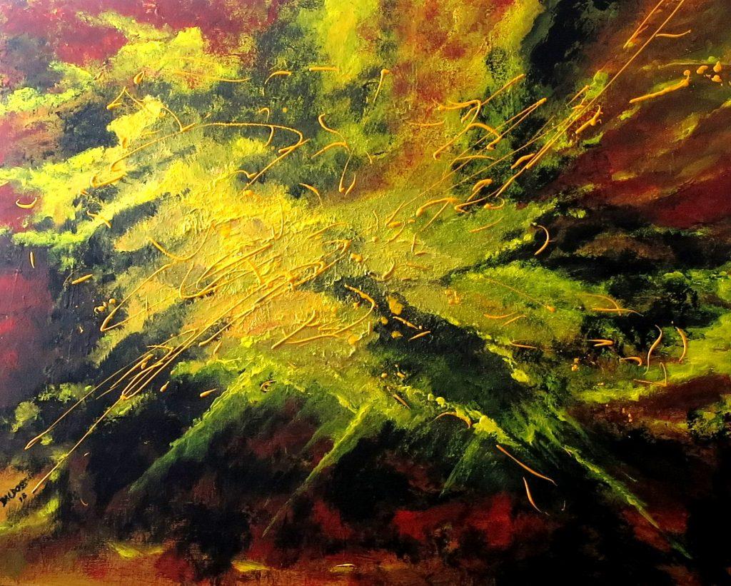 Explosion, Acryl auf Leinwand, 80x100