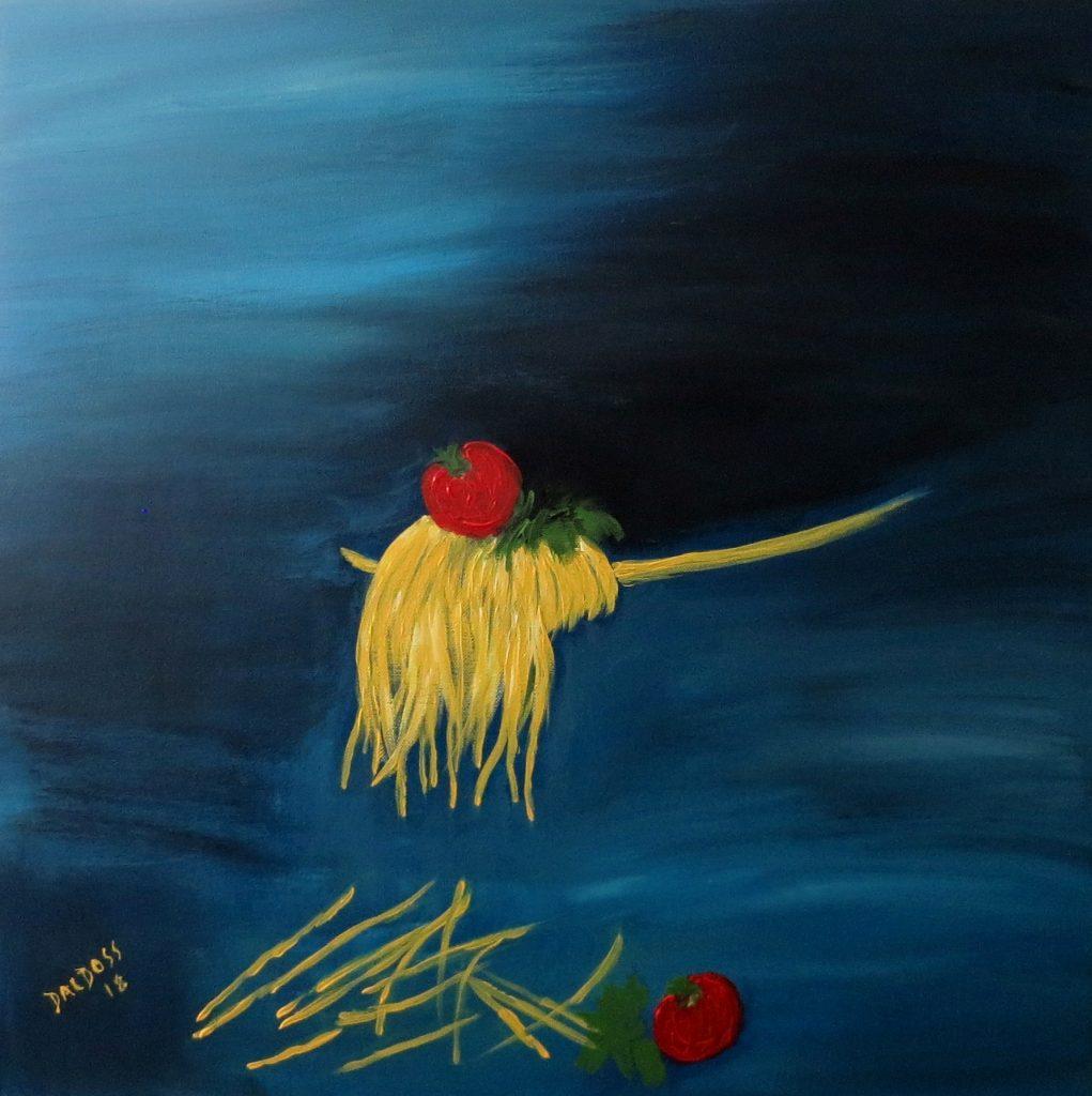 Pasta, Acryl auf Leinwand, 60x60