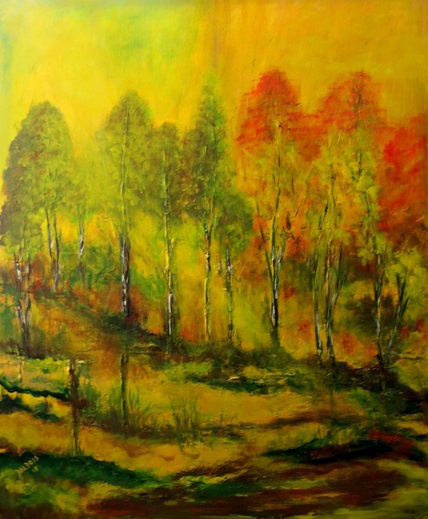 Herbststimmung, Acryl auf Leinwand, 100x80