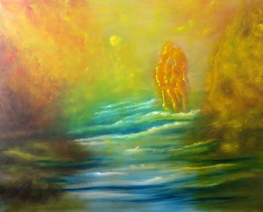 Mystik, Acryl auf Leinwand, 80x100