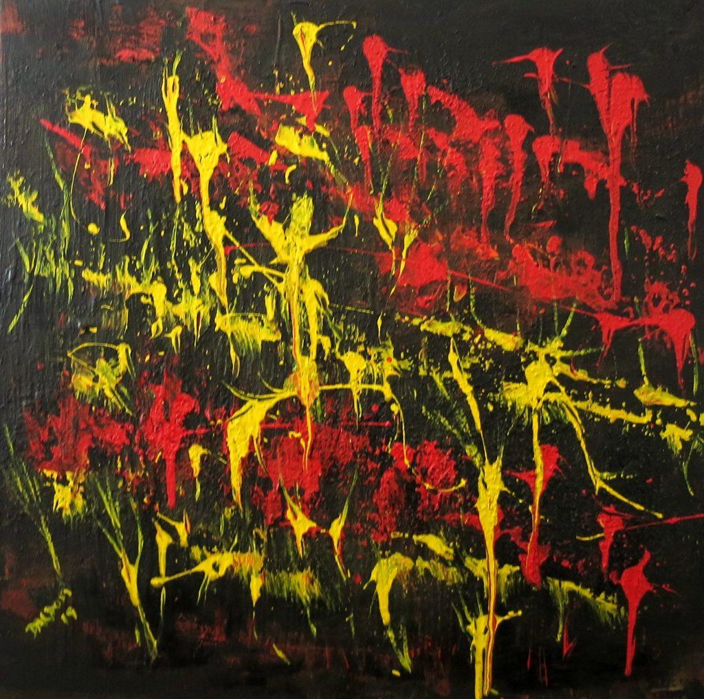 Trapezkunst, Acryl auf Leinwand, 60x60