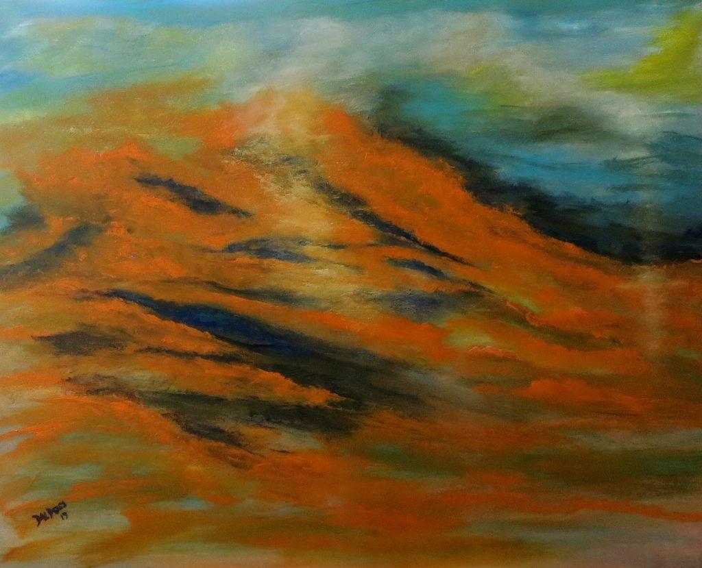 Wüste, Acryl auf Leinwand, 80x100