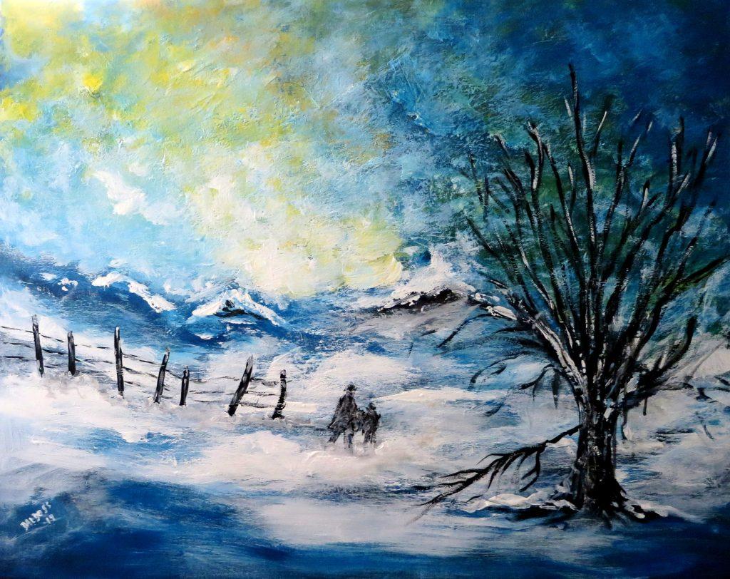 Winter, Acryl auf Leinwand, 80x100