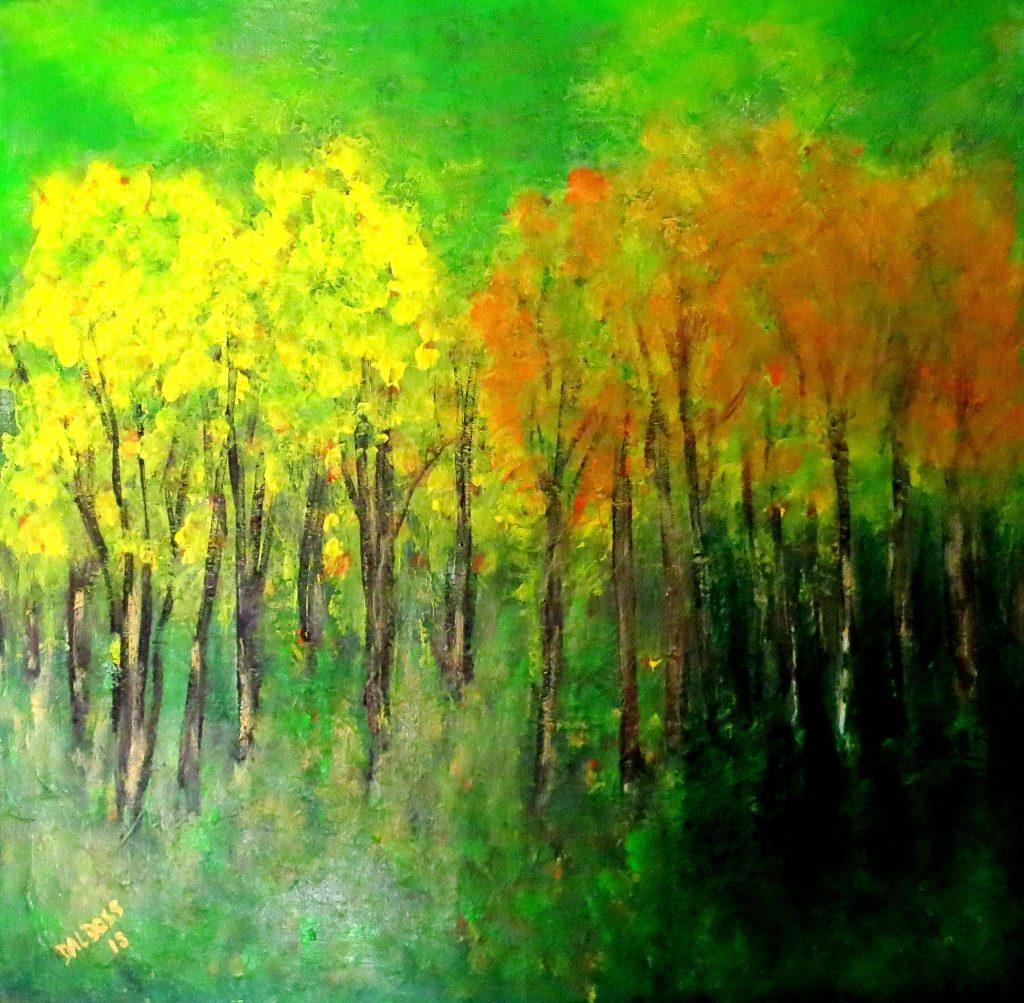 Herbst, Acryl auf Leinwand, 60x60