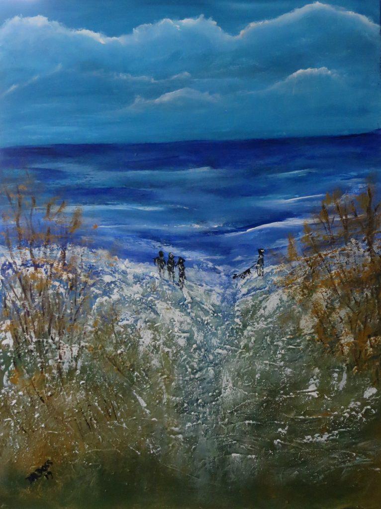 An der See, Acryl auf Leinwand, 80x60