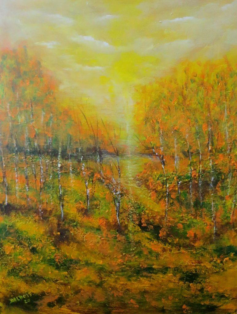 Waldlichtung, Acryl auf Leinwand, 80x60
