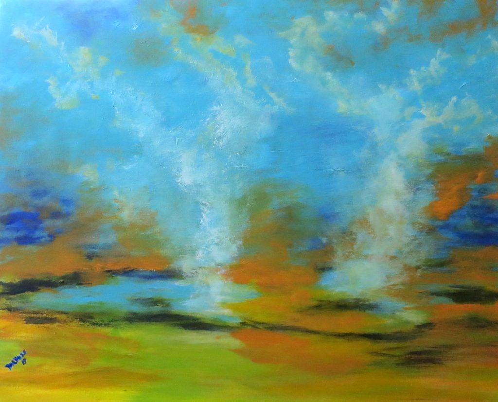 Gysir, Acryl auf Leinwand, 80x100