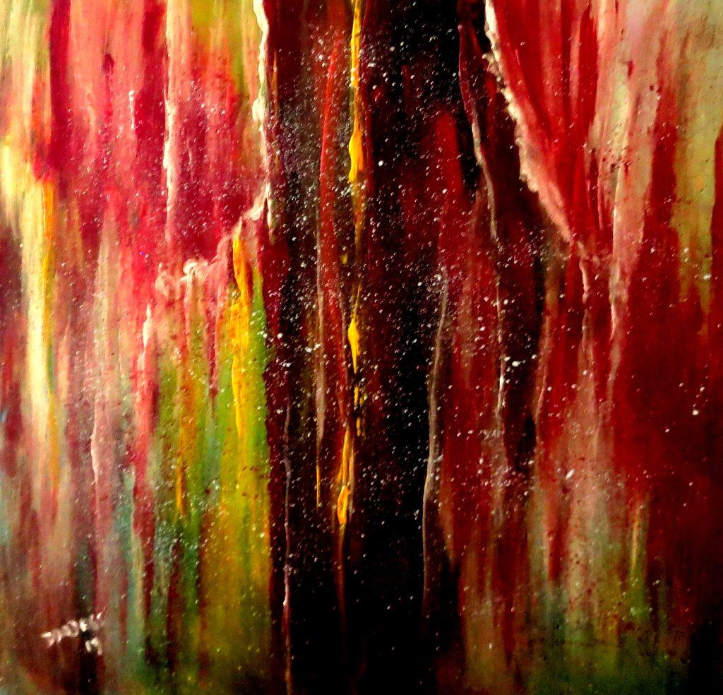 zerrissener Vorhand, Öl auf Leinwand, 60x60