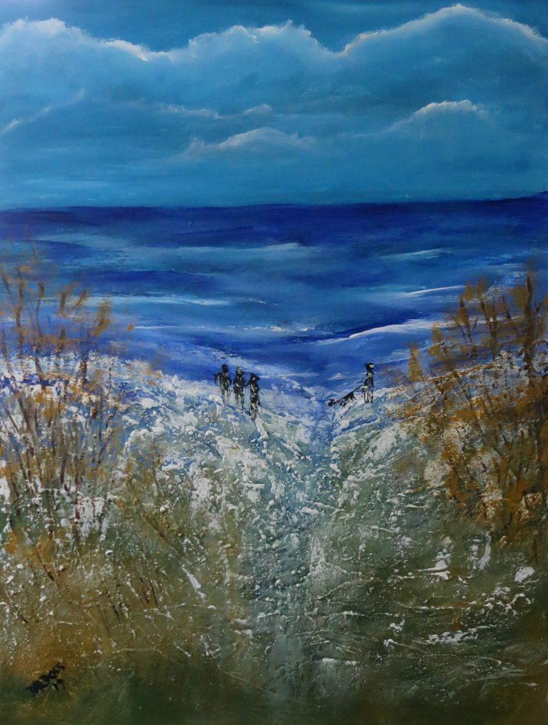 an der See, Acryl auf Leinwand, 60x80