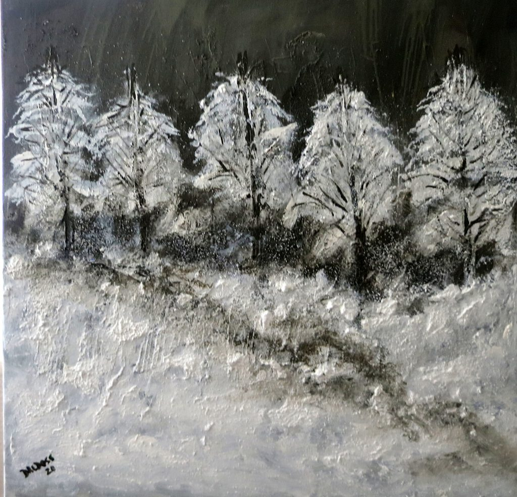 Bäume im Winter, Acryl auf Leinwand, 60x60