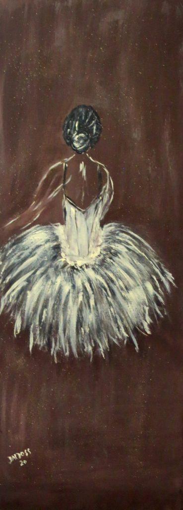 Primaballerina, Acryl auf Leinwand, 80x30