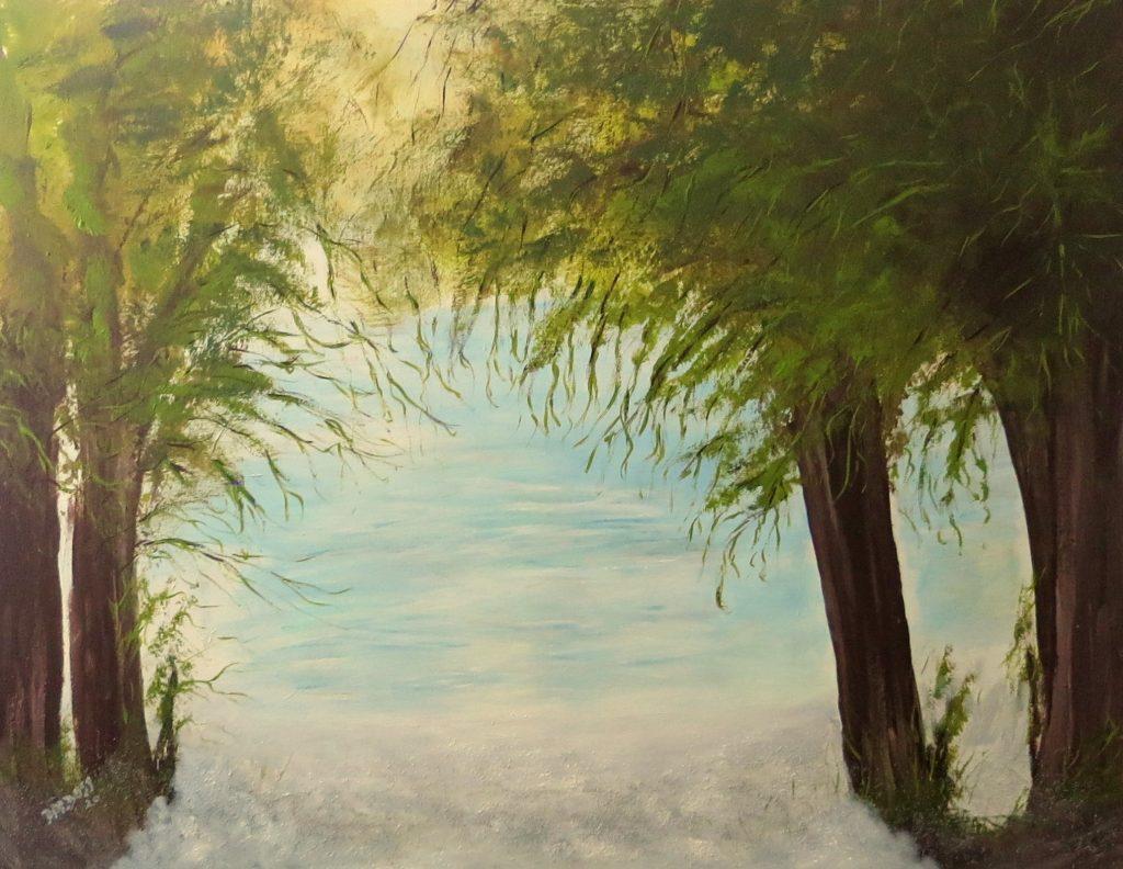 Karibik-Flair, Acryl auf Leinwand, 80x100
