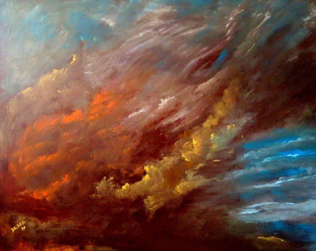 Wolkenstimmung, Acryl auf Leinwand, 80x100