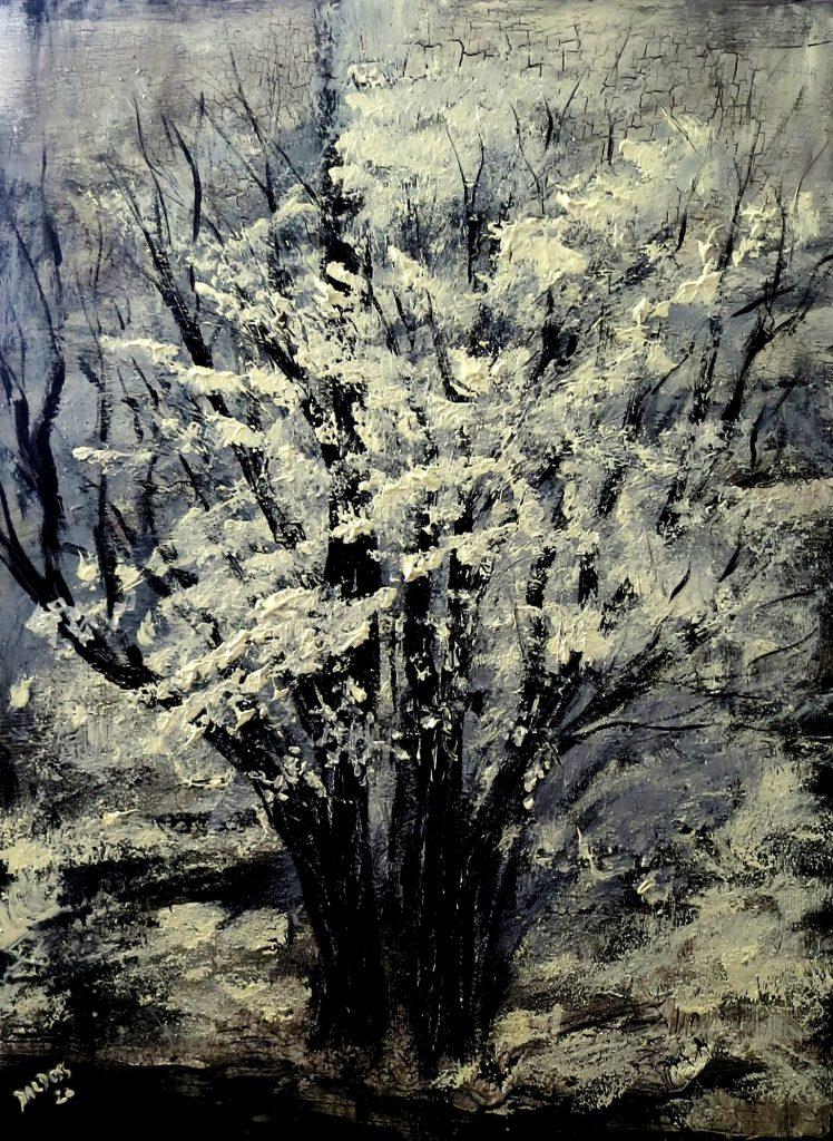 Winter, Mischtechnik auf Leinwand, 80x60