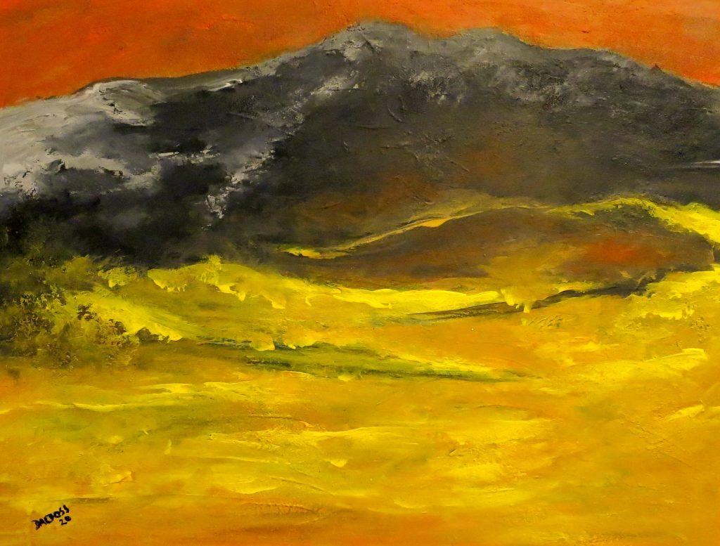 Bergwanderung, Acryl auf Leinwand, 60x80