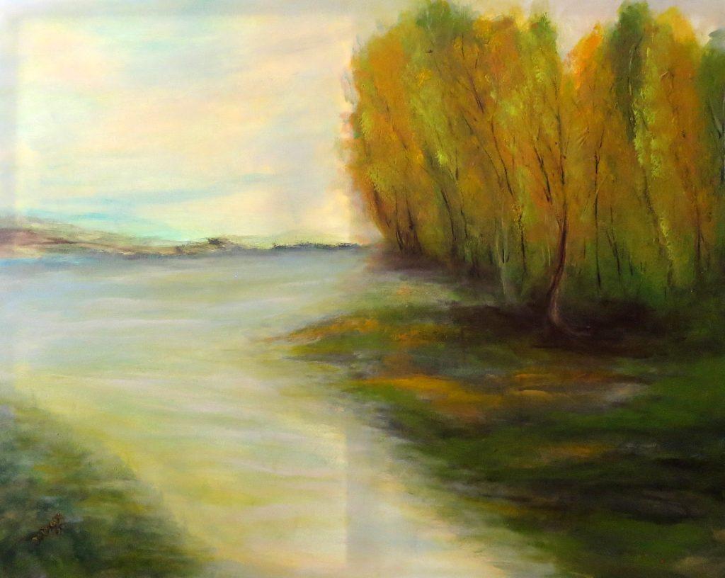 Stille, Acryl auf Leinwand, 80x100
