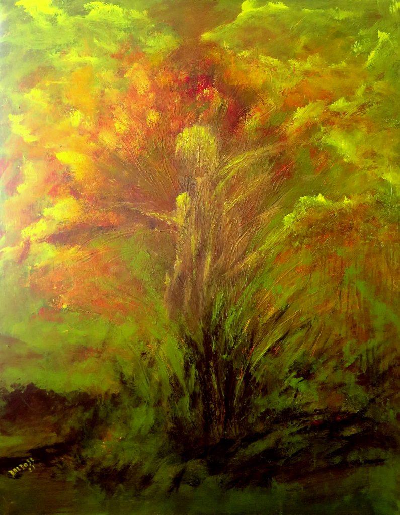 Phantasie, Acryl auf Leinwand, 100x80